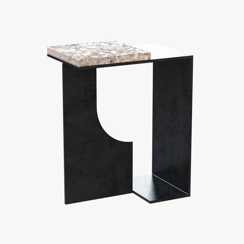3d model table absinthe holly hunt