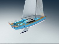 sail sailboat boat 3d max