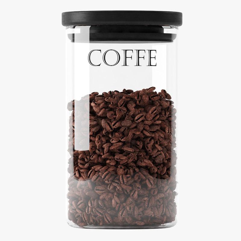 jar coffee 3d max