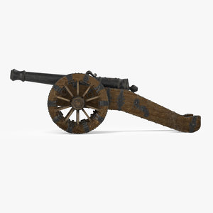 cannon artillery 3d model