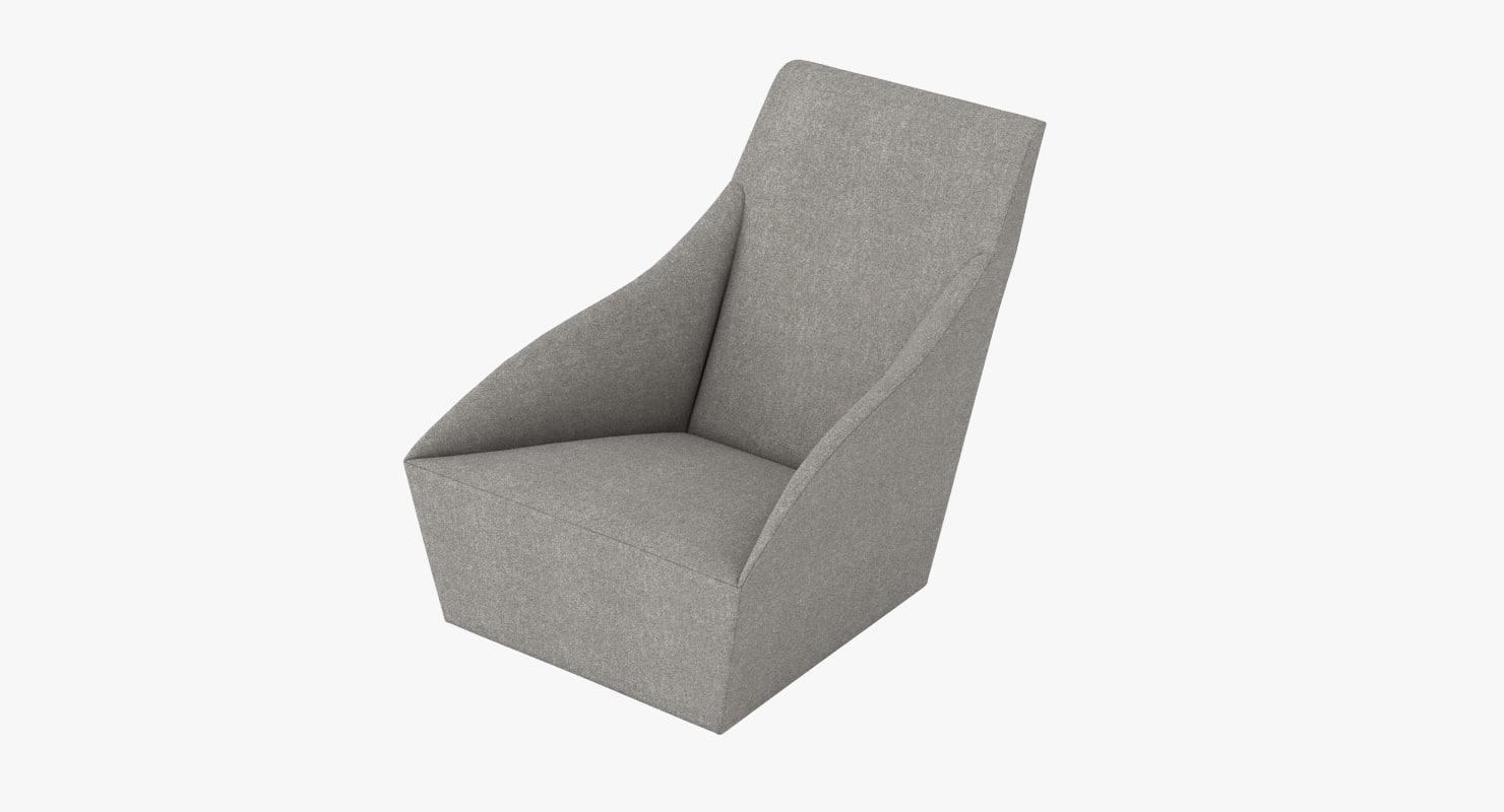 3d of molteni c doda chair