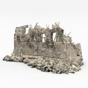 3d model ruins building