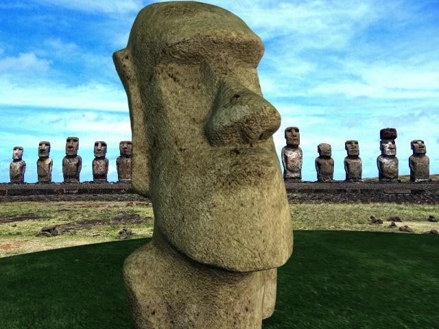 moai head statue 3d max
