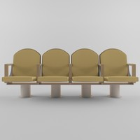 3d ascender theatre chair model