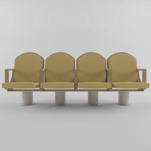3d ascender theatre chair model