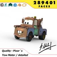 3d model pixars cars tow mater