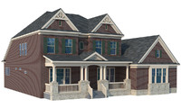 home roof 3d fbx