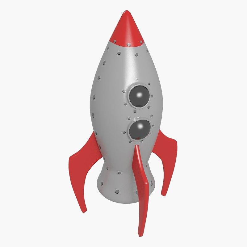 3d toy space rocket