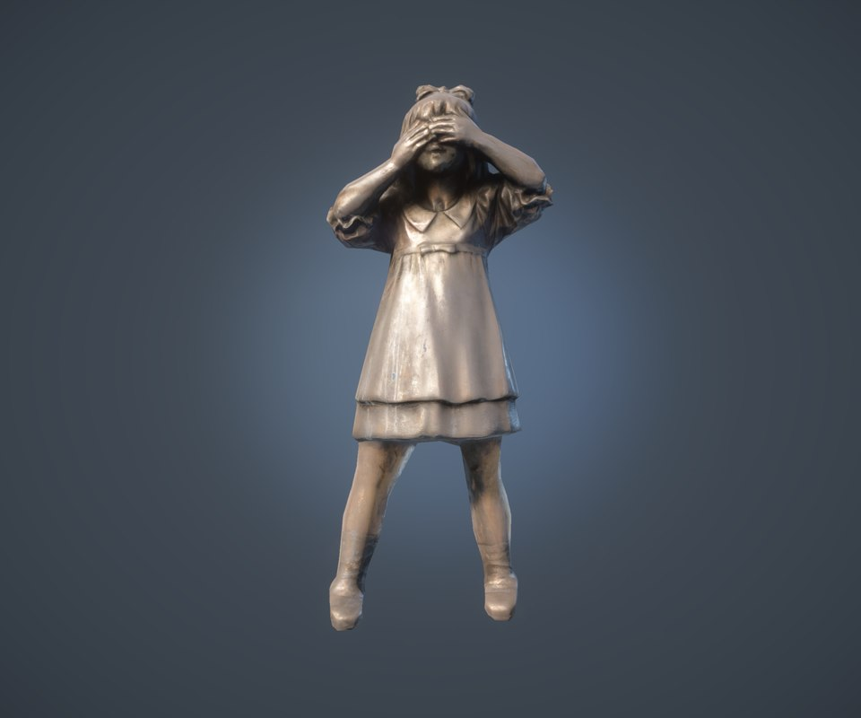 maya scanned girl statue