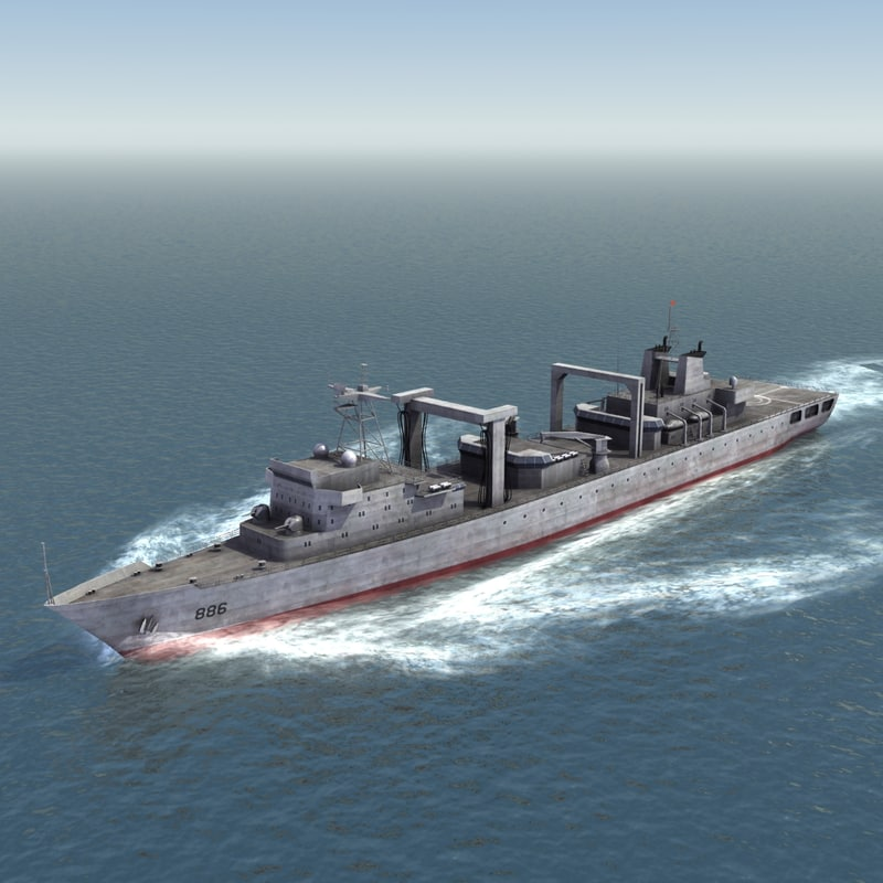 3d type 903 replenishment ship model