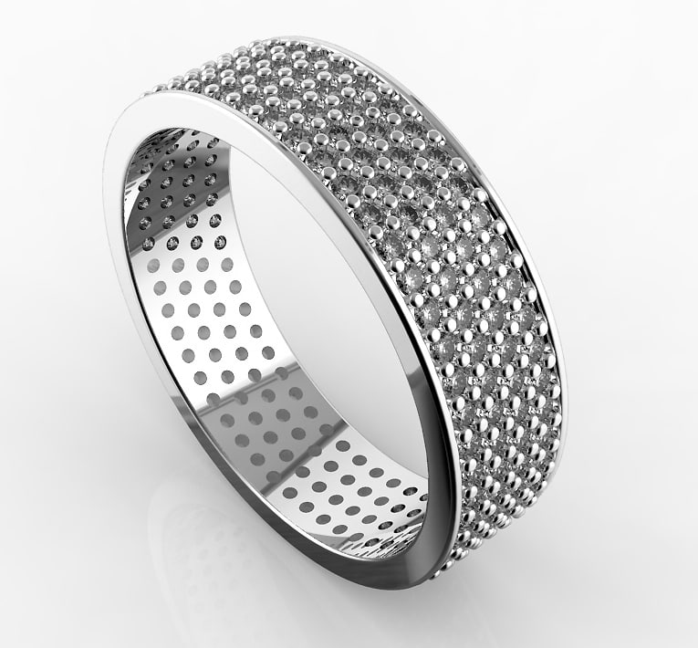 3d band ring diamonds