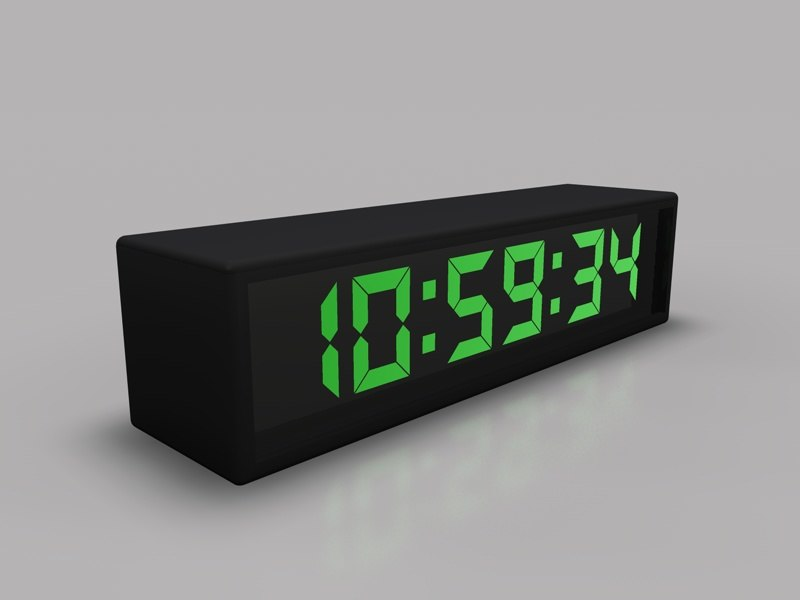 c4d digital clock
