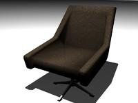3ds armchair swivel