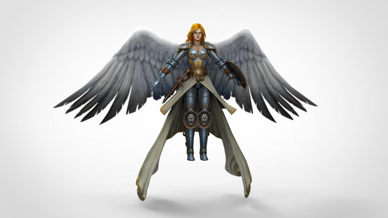 figures medieval fantasy 3d model