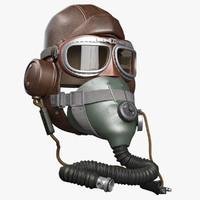 3d aviator helmet raf ww2