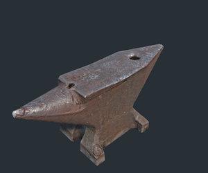 3d old anvil model