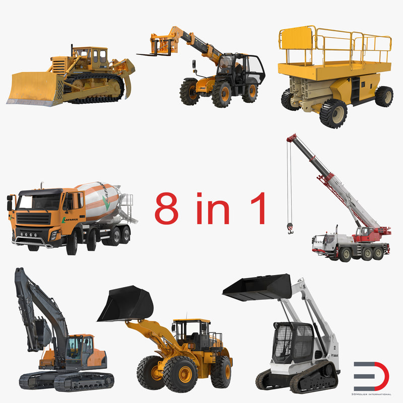 construction vehicles rigged 2 max
