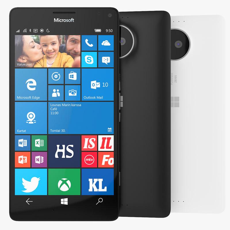 microsoft lumia 950 xl 3d max
