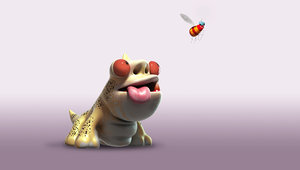 gecko cartoon toon 3d model