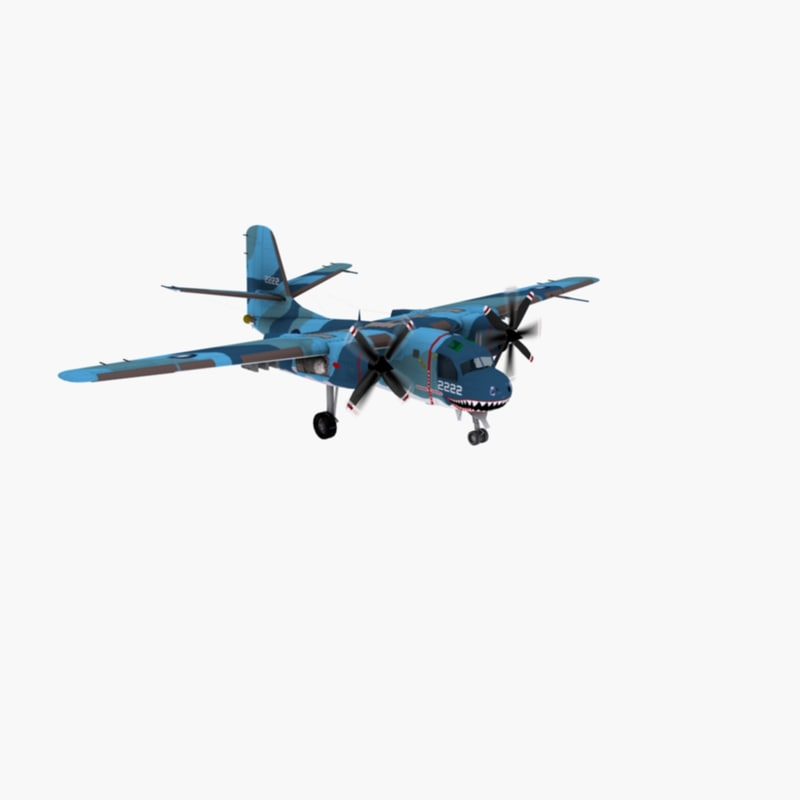 3d model of tracker aircraft