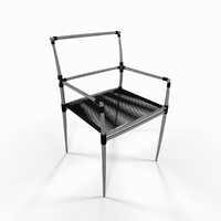 3d max metal seat chair