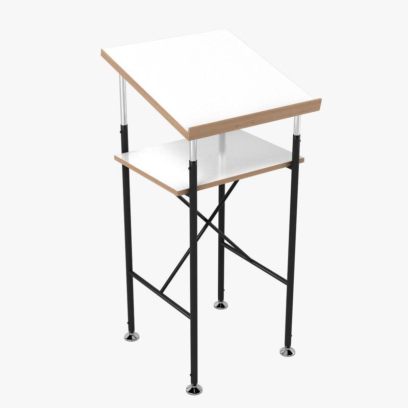 3d paul eiermann lectern model
