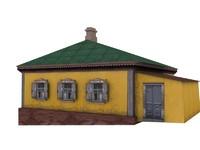3d tavern house model