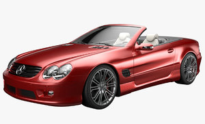 mercedes sl500 interior benz 3d obj