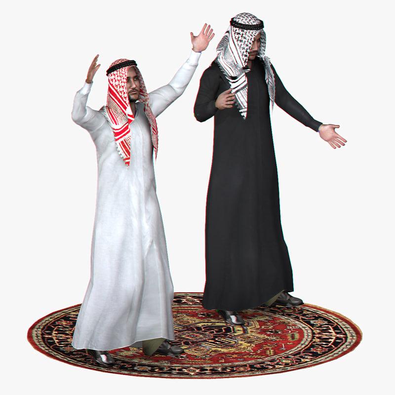 3d model realistic arabic