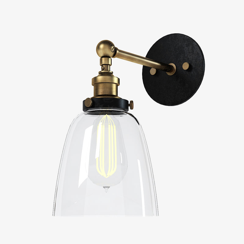 3d fabrique wall lamp model