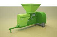 3d model silo grain loader