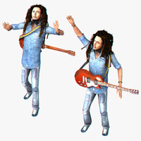 3d rigged bob marley model