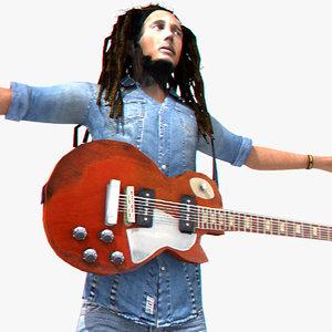 3d model bob marley