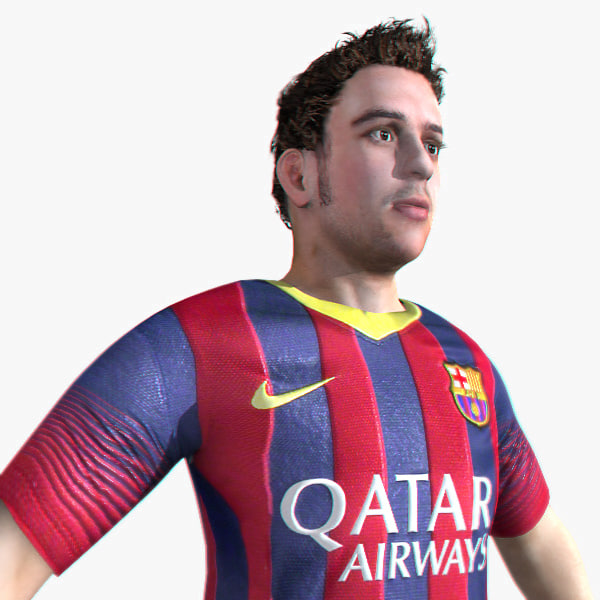 football soccer player 3d max