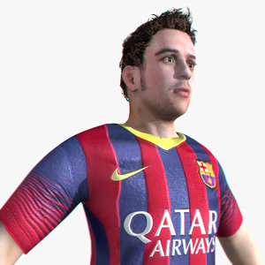 football soccer player 3d max