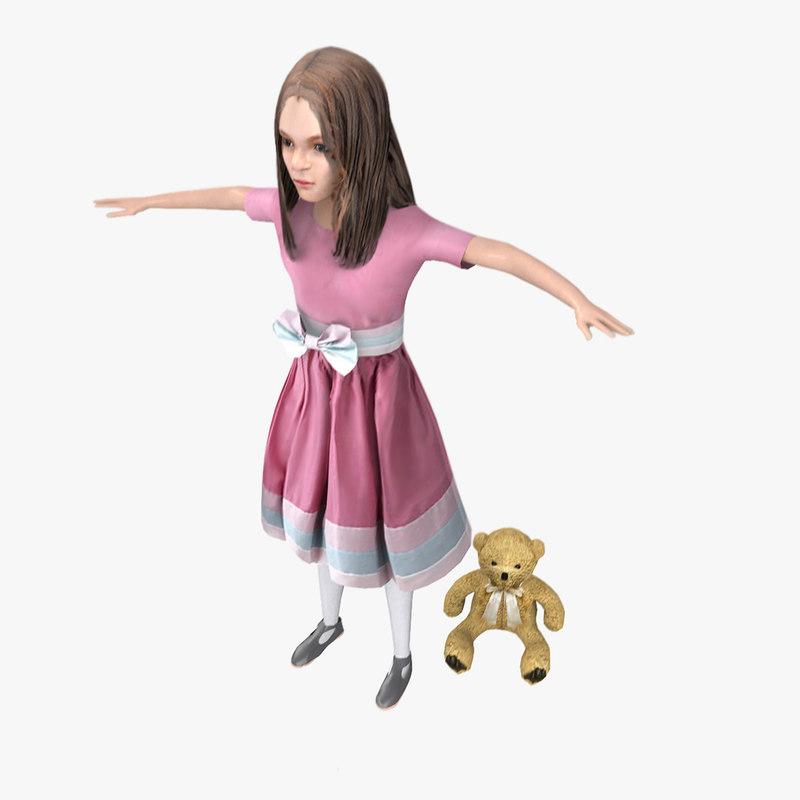 girl character 3d model