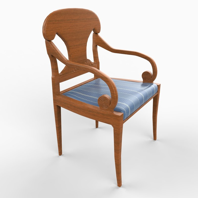 3d english chair furniture