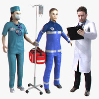 Realtime Rigged Medical Workers