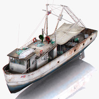 ready fishing boat 3d 3ds