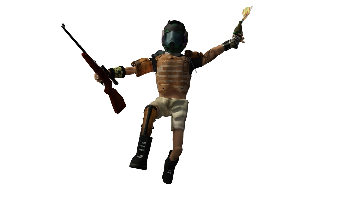 man sci 3d model