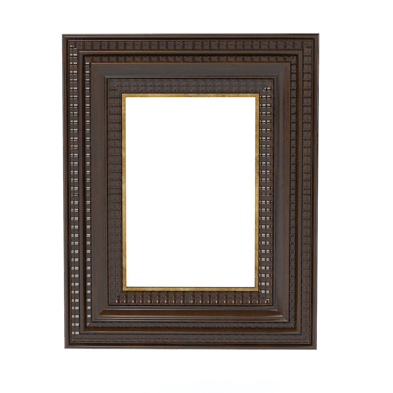 carved picture frame 3d 3ds