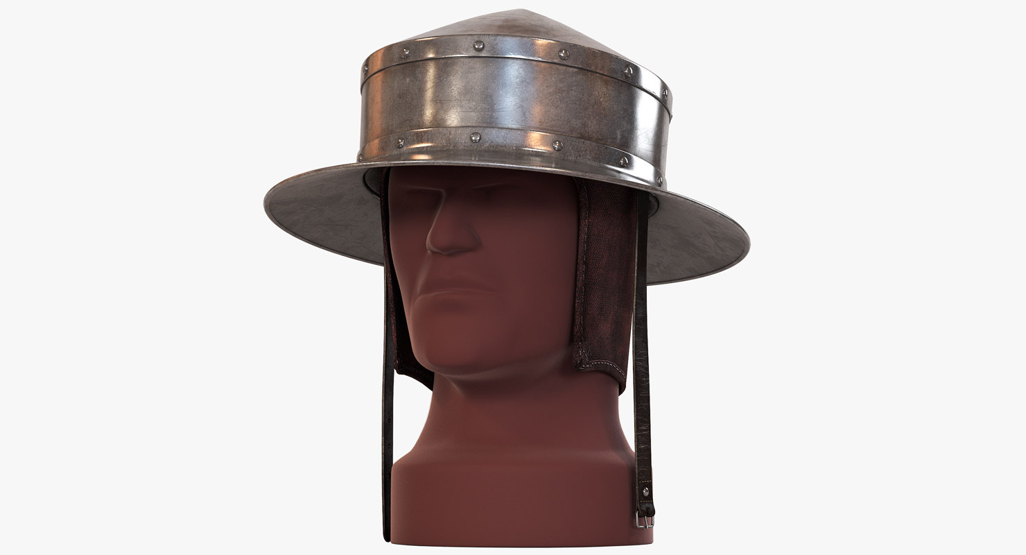 pointed kettle hat chapel 3d max