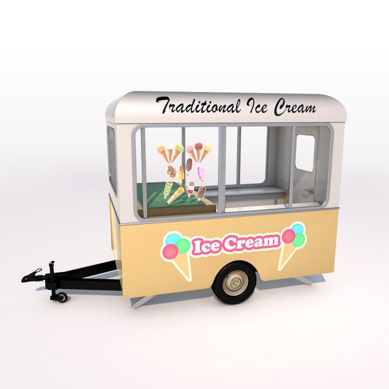 3ds ice cream trailer
