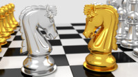 3d pawns chess board