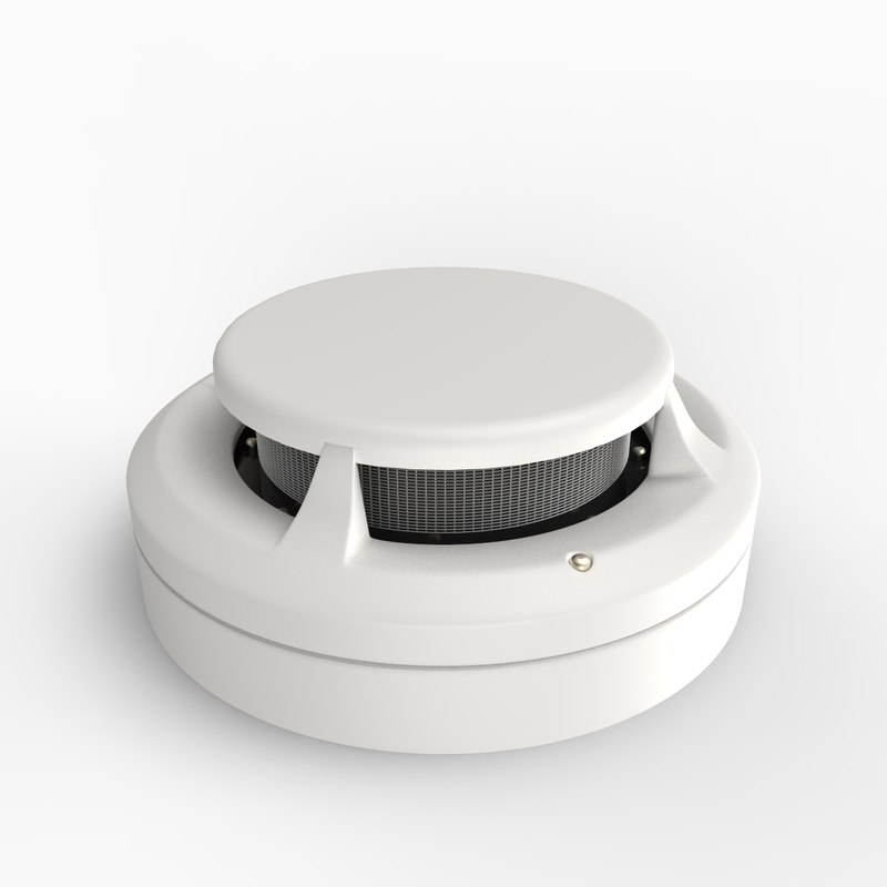 3d model smoke detector detects