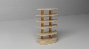 bookcase book 3d model