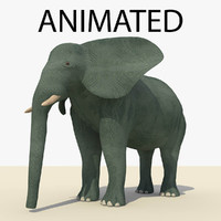 blue elephant animations c4d
