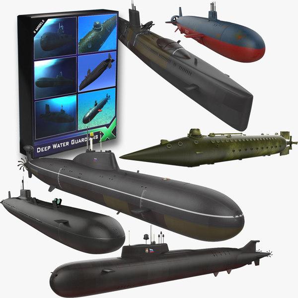 submarines soviet subs 3d model