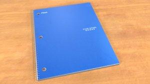 spiral notebook 3d obj