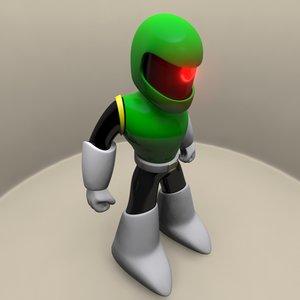 sniper rider joe megaman 3d model